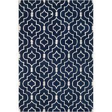 safavieh ham dark blue contemporary rug 8 9