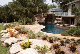 inground pools with waterfalls and slides. Custom Swimming Pool With Natural Stone Waterfalls And Grotto After Inground Pools Slides
