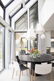 Modern Dining Room Pendant Lighting New Beautiful Black And White Dining Room With Open Windows Looking Over