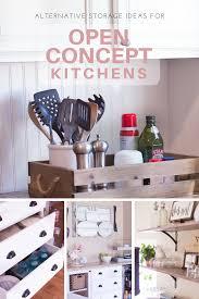 pin alternative storage ideas for open concept kitchens