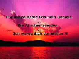 Für Meine Beste Freundin Daniela Ich Werde Dich Vermissen Video