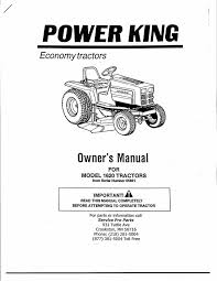 power king manuals covers power king model 1620 hydro from serial number 65861 includes parts and service info