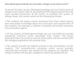 college essay help  online services are as follows 5 how myassignmenthelp com provides college essay help