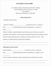 Doctor Note Template Pdf Elegant Doctors Note Template Pdf Free 42