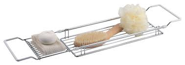 expandable bathtub caddy