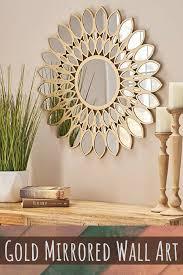 chic posh and artsy gold wall decor