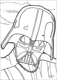 Small Picture Darth Vader Face coloring page Free Printable Coloring Pages