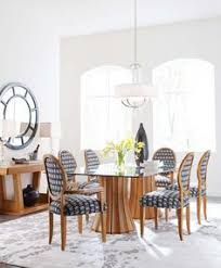 stickley modern dining room furniture the broadway double pedestal gl top table