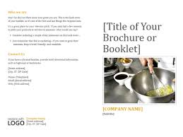 Booklet Word Template Booklet For Products And Services