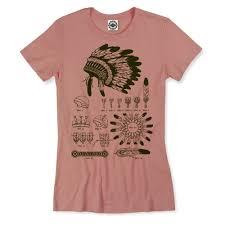 American Rose Size Chart Native American Headdress Womens Tee
