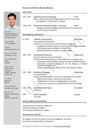 Curriculum Vitae Free Template Gorgeous Download Curriculum Vitae Sample Template Mysticskingdom Info