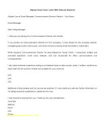 Cover Letter Email Format Effective Cover Letter For Resume Dew Drops