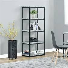 ameriwood glass door bookcase home lane black with sliding doors ashlar concrete grey 3 shelf white stipple