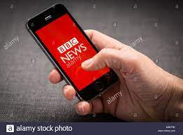 BBC News app on an iPhone Stock Photo - Alamy