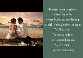 Personalize Destination Wedding Photo Western Beach Invitations