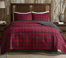 Woolrich Quilts | eBay & CABIN BUFFALO CHECK Full Queen QUILT SET : COUNTRY WESTERN LODGE RED PLAID  BED Adamdwight.com
