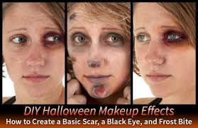 3 diy makeup effects basic scar black eye and frost bite costumes