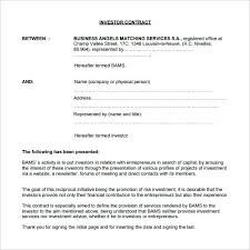 Agreement Template Free Custom Equity Investment Agreement Template 48 Contract Form Pdf