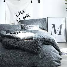 grey duvet cover set cotton dark grey duvet cover set twin queen size bedding set for