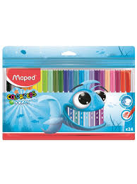 <b>Фломастеры COLOR</b>'<b>PEPS</b> OCEAN супер смываемые в пакете с ...