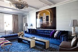 Plain Cobalt Blue Living Room Regarding Modern House