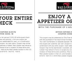 Red Lobster Coupons Printable Coupons In Store Coupon Codes With