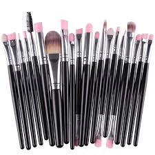 20pcs black style pro makeup brushes set brush kit cosmetic powder blsuh foundation synthetic hair