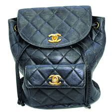 Chanel Mini Backpack in Quilted Black Leather-NYShowplace & Chanel Mini Backpack in Quilted Black Leather Adamdwight.com
