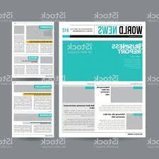 1800 Newspaper Template Newspaper Design Template Vector Modern Newspaper Layout