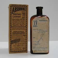 absorbine bottle and carton 1892