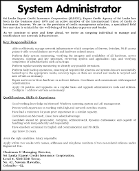 Systems Administrator Job Description System Administrator 1