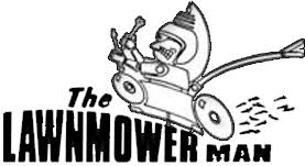 lawn mower logo. lawn mower man logo