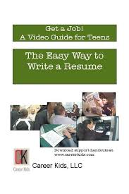 The Easy Way To Write A Resume Dvd Middle School High School Cc
