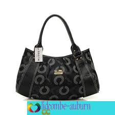 Coach Waverly Logo Large Satchels Black