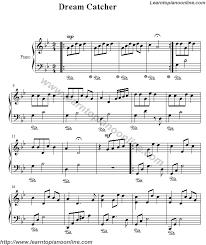dreamcatcher free piano sheet