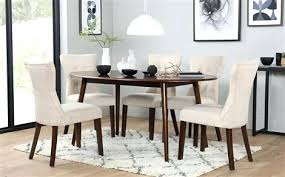 dining tables sets oval dark wood dining table with 4 oatmeal chairs dining table chairs for