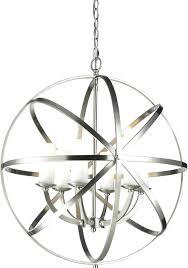 nickel orb chandelier lovely brushed nickel globe chandelier on crystal orb 6 light free today