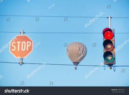 Balloon Stop Light Hot Air Balloon Flying High Air Stock Photo Edit Now 728476057