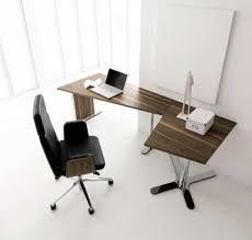 chrome office desk. Furniture , Modern Office Desk For Home : Wooden And Chrome Legs
