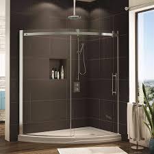 fleurco shower door novara slice curved glass door and panel