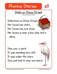 Phonics worksheets, phonics worksheet templates, phonics board games. Stella On Stone Street St Phonics Stories Reading Comprehension Worksheet Have Fun Teaching