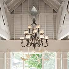led chandeliers with shades