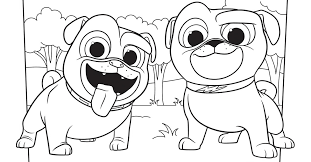 These disney coloring sheets are free to download and print. Bingo And Rolly Coloring Page Activity Disney Family