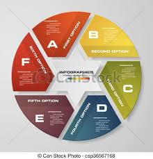 Modern Pie Chart Abstract 6 Steps Modern Pie Chart Infographics Elements Vector Illustration