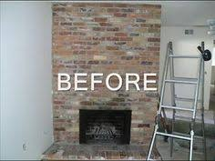 DIY Brick Fireplace Refacing | Fireplace refacing, Brick fireplace ...