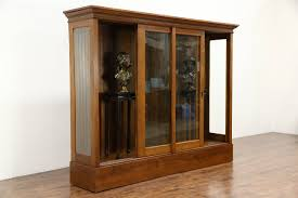 display cabinet with glass doors sliding