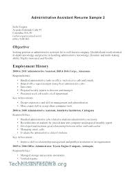 Resume Objectives For Administrative Assistant