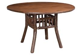 hickory lake lodge dining table available in 3 3 1 2 or 4 foot round