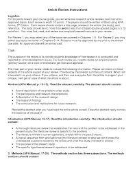 Apa Literature Review Conclusion Organizing Your Social Sciences