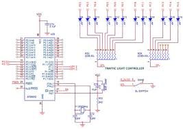 traffic light wiring diagram wiring diagram and hernes traffic light circuit diagram using 555 timer ic
